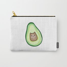 AvoCato Avocado Cat Print Carry-All Pouch