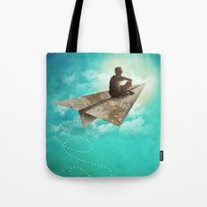 Paper Aeroplane Tote Bag