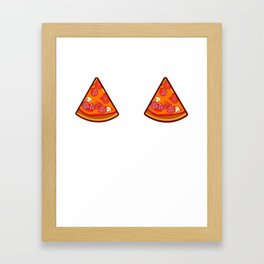 Pizza Two Pieces Slices Gift For Pizza Lover Framed Art Print
