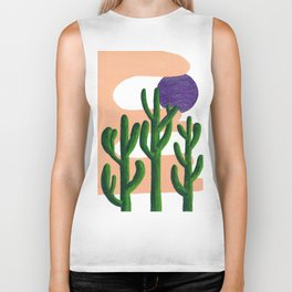 Where the Cacti Grow Biker Tank