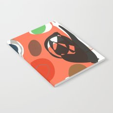 Abstract Shapes Pattern Be Kind Notebook