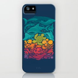 Aquatic Spectrum iPhone Case