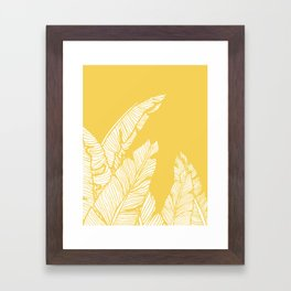 Banana Leaves on Yellow #society6 #decor #buyart Framed Art Print