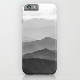 Forest Fade - Black and White Landscape Nature Photography iPhone Case