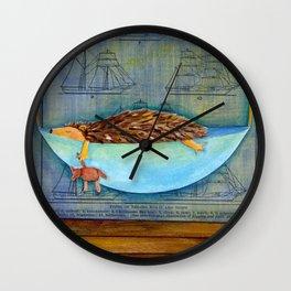 hedgehog dreams Wall Clock
