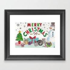 Christmas Card! Framed Art Print