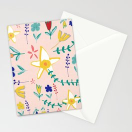 Floral The Tortoise and the Hare is one of Aesop Fables pink Stationery Cards