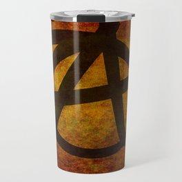 Distressed Anarchy Symbol Travel Mug