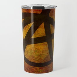 Distressed Anarchy Symbol Travel Mug