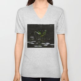 Pickerel Weeds and Lily Pads Unisex V-Neck