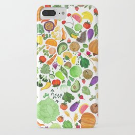 Fruit and Veg Pattern iPhone Case