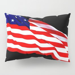 These Colors Never Run - American Flag Patriotic, Red White & Blue, Stars & Stripes, Old Glory Pillow Sham