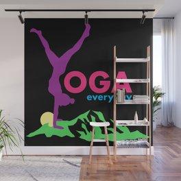 Yoga everyday Wall Mural