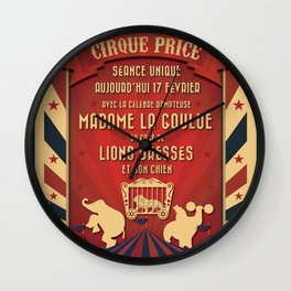 CIRQUE PRICE ROUGE Wall Clock