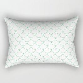 Mermaid Scales in Green Rectangular Pillow