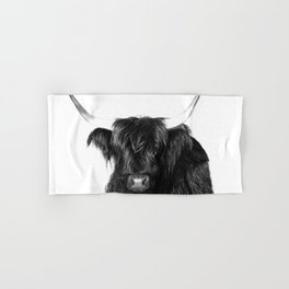 Cow photo | Black and White Hand & Bath Towel