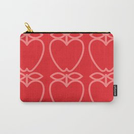 MCM Apple Red Carry-All Pouch