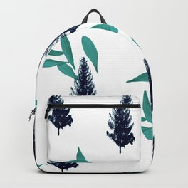 Trees & Leave on a White Crisp Background Backpack
