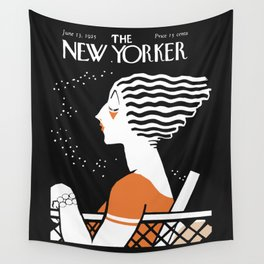 Vintage Magazine Cover, 1925 Artwork Reproduction Wall Tapestry