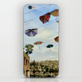 Umbrellas over Amman~ Jordanian joyful sight iPhone Skin