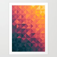 infinity Art Prints featuring Infinity Twilight by Picomodi