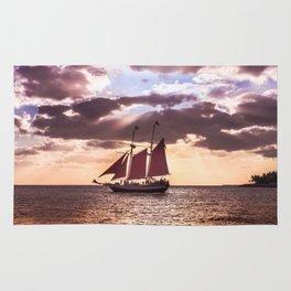 Scarlet sails Rug
