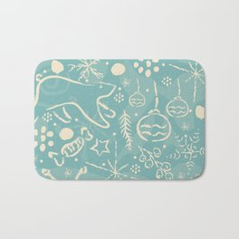 Design Inspired By Magical Times of Winter, the Time of True Peace, Joy and Happiness Bath Mat