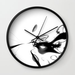 Ink Blot 04 Wall Clock