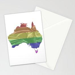 Australia Gay Pride Flag Stationery Cards