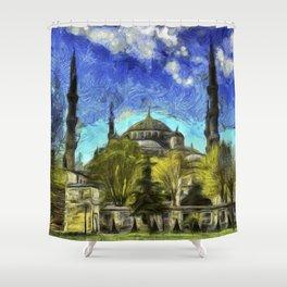 Blue Mosque Istanbul Art Shower Curtain