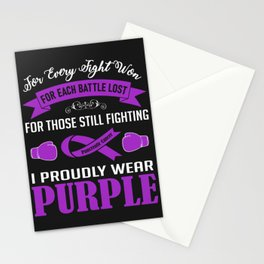 I Proudly Wear Purple | Pancreatic Cancer Stationery Cards