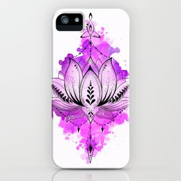 Mother Lotus iPhone Case