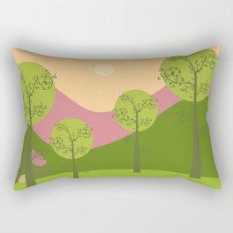 Kawai landscape breaking Dawn Rectangular Pillow