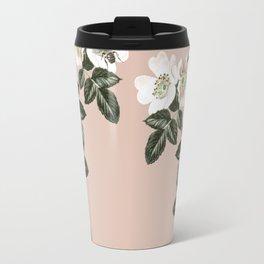 Bee Blackberry Bramble Coral Pink Travel Mug