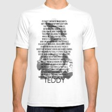 TEDDY White Mens Fitted Tee MEDIUM