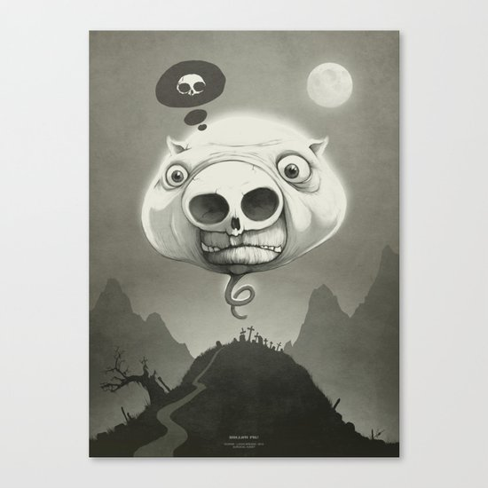 This is Hollow Pig! Canvas Print