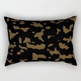 Camouflage Black and Tan Rectangular Pillow