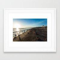 santa monica Framed Art Prints featuring Santa Monica by felipealmeidaphoto