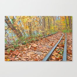 Abandoned Autumn Railroad Canvas Print