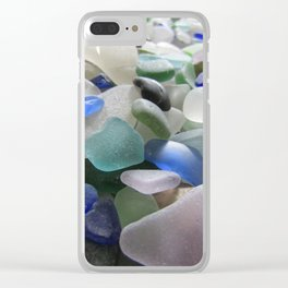 Sea Glass Assortment 6 Clear iPhone Case