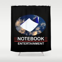 notebook Shower Curtains featuring Notebook Entertainment 2 by NotebookFilms