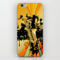 saxophone iPhone & iPod Skins featuring Saxophone by nicky2342
