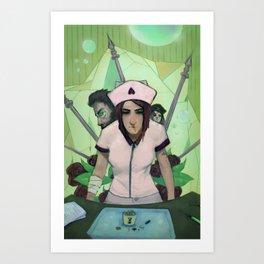The Anti-Nurse Art Print