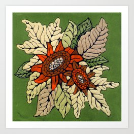 Autumn Flowers Art Print