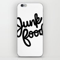 junk food iPhone & iPod Skins featuring Junk Food by mellanid