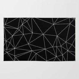 Geometric Black and White Minimalist Pattern Rug