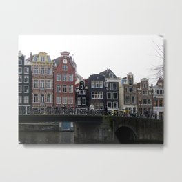 Amsterdam Bicycles Metal Print