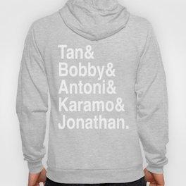 Queer Eye Tan Bobby Antoni Karamo & Jonathan (White on Black) Hoody