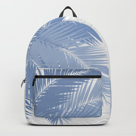 BLUE TROPICAL PALM TREES Backpack