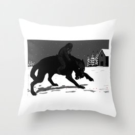 Svart-Alf Throw Pillow